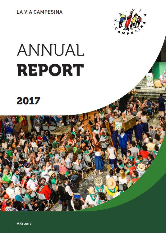Relatório anual de 2017 da Via Campesina
