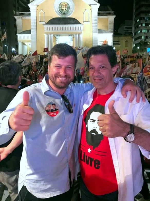 Cadu e Haddad em Florianópolis