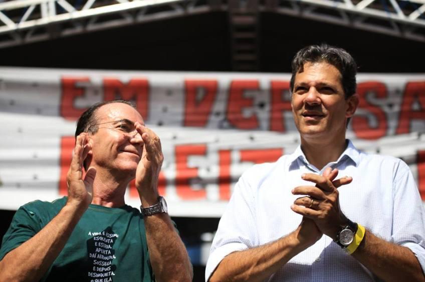 Décio Lima e Fernando Haddad