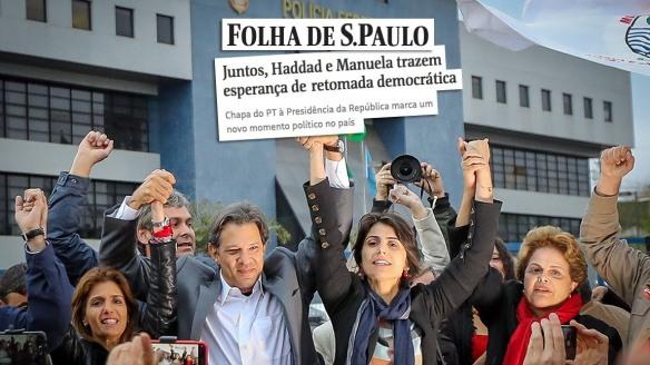 Haddad e Manuela trazem esperança de retomada democrática