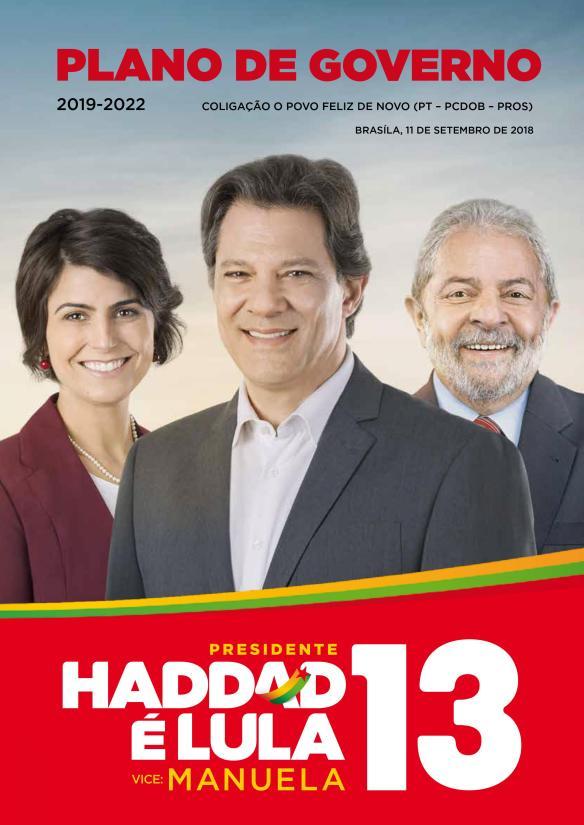 Plano de Governo da coligação O Povo Feliz de Novo - Haddad Presidente 13 [Capa]