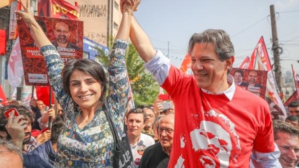 Fernando Haddad e Manuella
