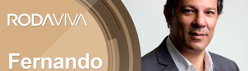 Fernando Haddad no programa Roda Viva da TV Cultura