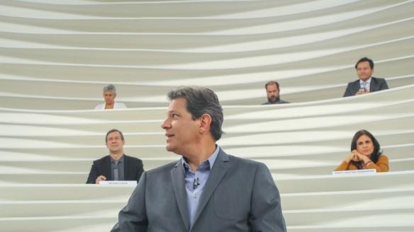 Haddad, que não foge ao debate, foi o entrevistado do Roda Viva