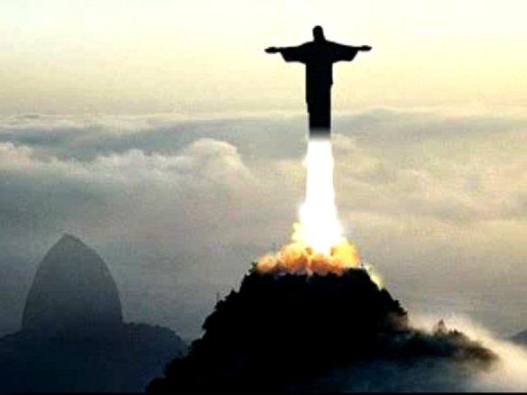 Cristo Redentor foguete