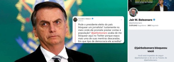 Bolsonaro bloqueia jornalista do The Intercept no Twitter