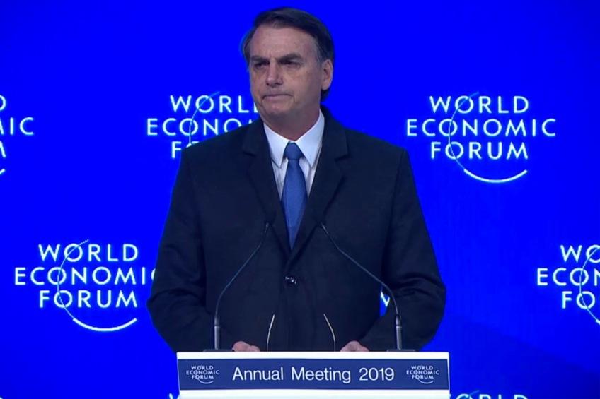 Bolsonaro Fórum Econômico Mundial
