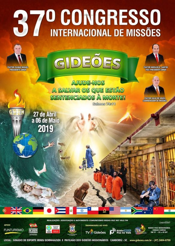 Cartaz oficial do Congresso dos Gideões 2019