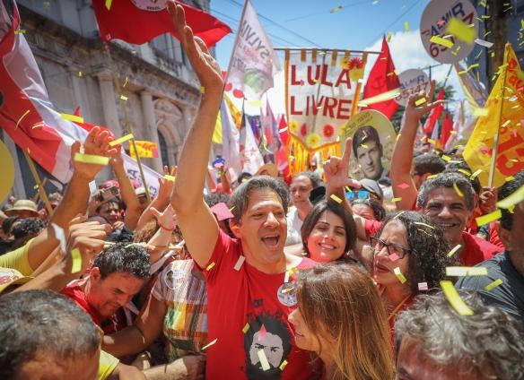 Militância Lula Livre e Haddad