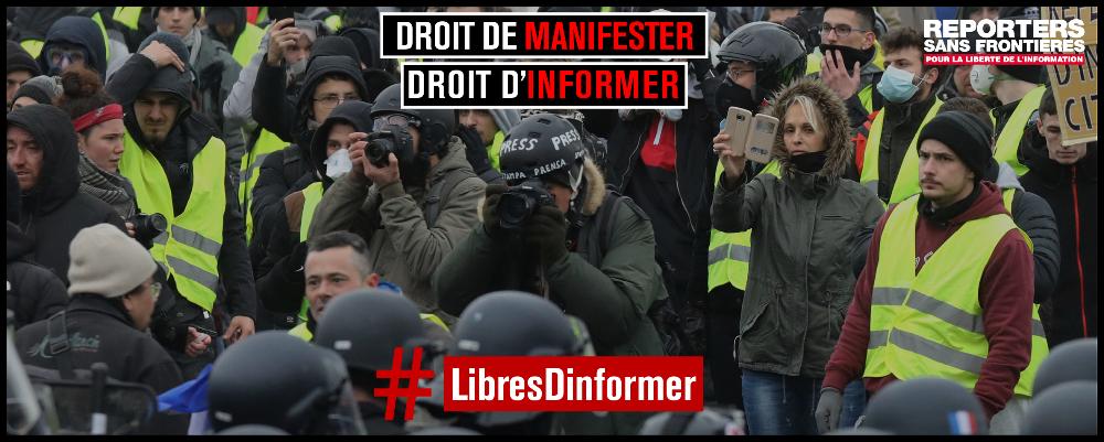 Os cidadãos têm o direito de se manifestar, os jornalistas para informar!