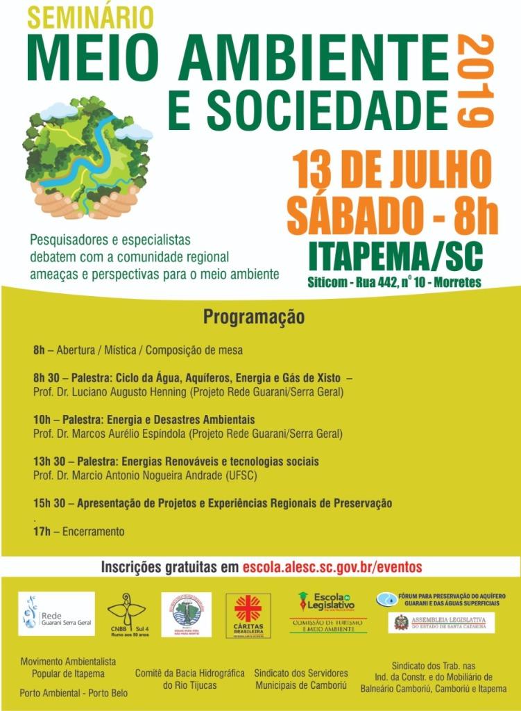 Seminário Meio Ambiente e Sociedade 2019