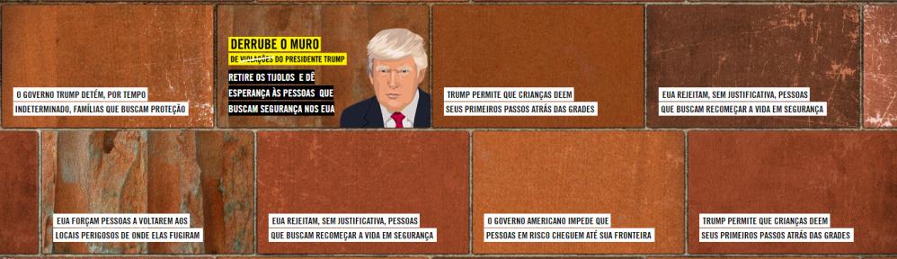 Muro de Trump da Anistia Internacional