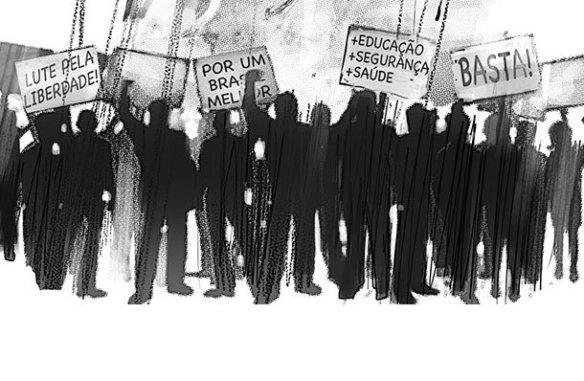 Protestos por seguraça cidadã
