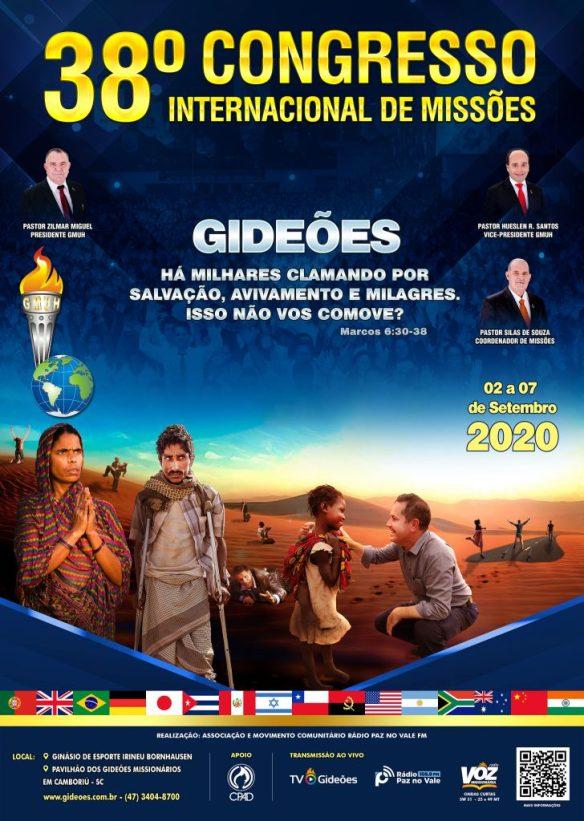 Cartaz do Congresso dos Gideões 2020